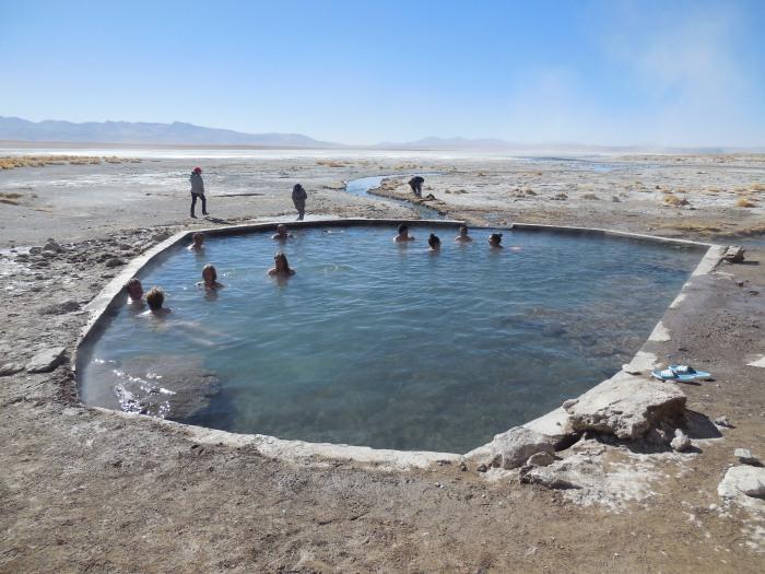 Heiße Quelle Bolivien Uyuni