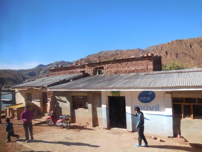 Busstop Bolivien