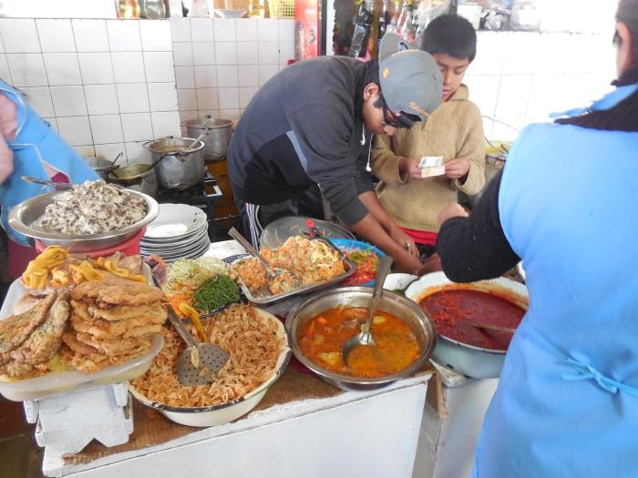Mittagsessen Mondongo Bolivien Sucre