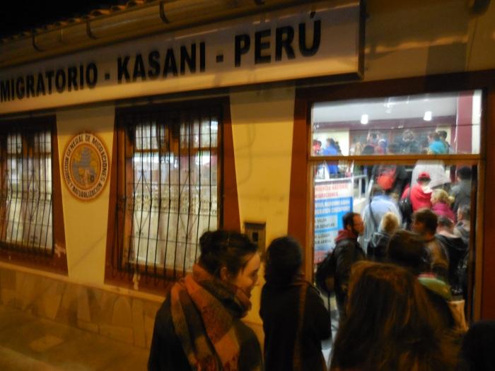 Grenzübergang Bolivien Peru