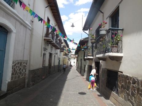 Gasse in Quito, Ecuador