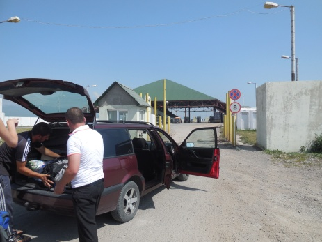 Grenze-Grenzübergang-Armenien-Georgien