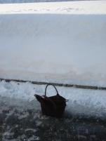 Schnee vs. meine Handtasche