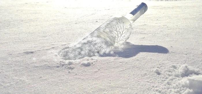 Wodka im Schnee