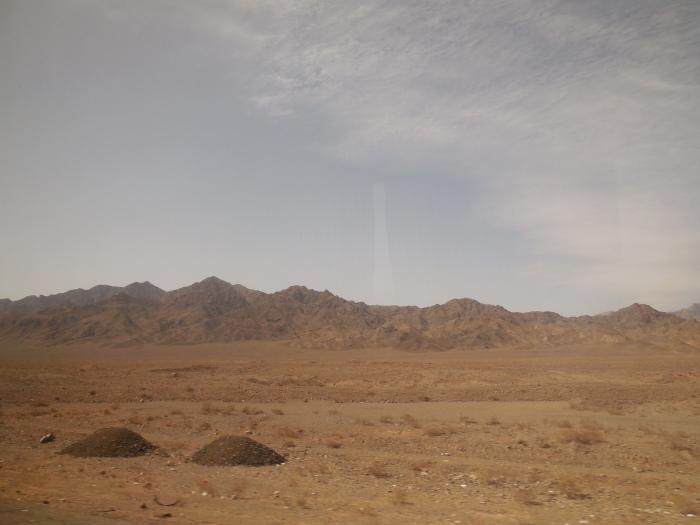 Landschaft zwischen Teheran und Kashan