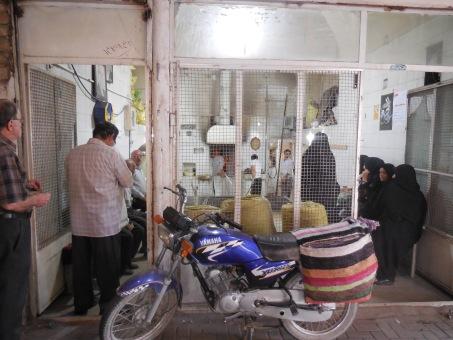 Eine typische Bäckerei von außen