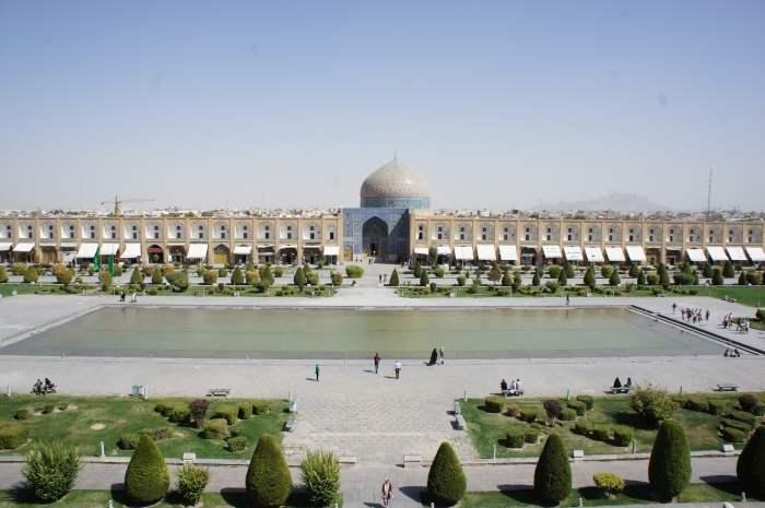 Blick auf die Lotfollah Moschee, Isfahan