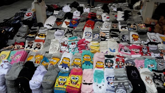 Bunte Socken in Südkorea